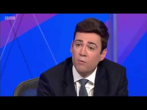 Andy Burnham on BBC Question Time