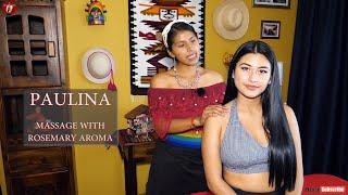 PAULINA - RELAXING ASMR MASSAGE WITH ROSEMARY AROMA, FULL BODY MASSAGE, SLEEP, SOFT SPOKEN screenshot 4