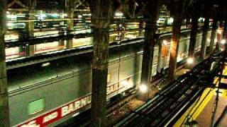 Ringling Bros. and Barnum & Bailey Circus Train Passes Through New York Penn Station