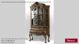 Continental Antique Display Cabinet/vitrine Dutch Cabinets