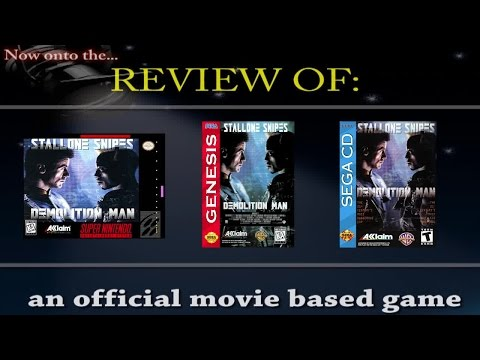 Movies to Video Games Review - Demolition Man (SNES, Genesis, Sega CD)