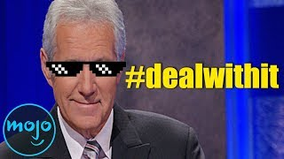 Top 10 SAVAGE Alex Trebek Moments