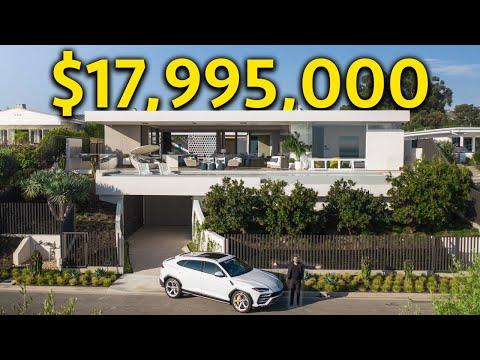 INSIDE a $17,995,000 CALIFORNIA MODERN MANSION with Ocean Views