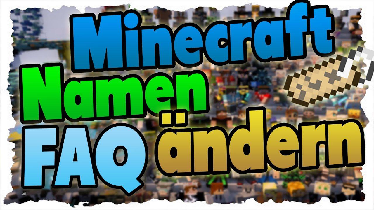 Minecraft NAMEN ÄNDERN Das MÜSST Ihr Wissen Minecraft News - Ich kann meinen minecraft namen nicht andern