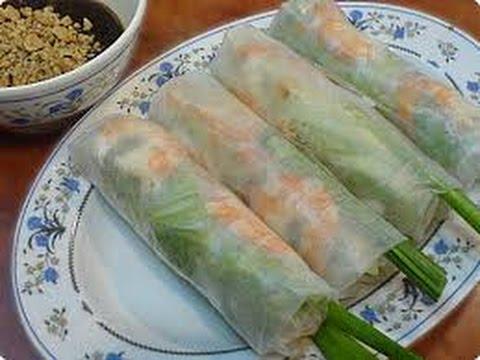 ASMR: Vietnamese Spring Rolls   Sesame Balls   Gỏi cuốn   Bánh Cam - Eating Sounds