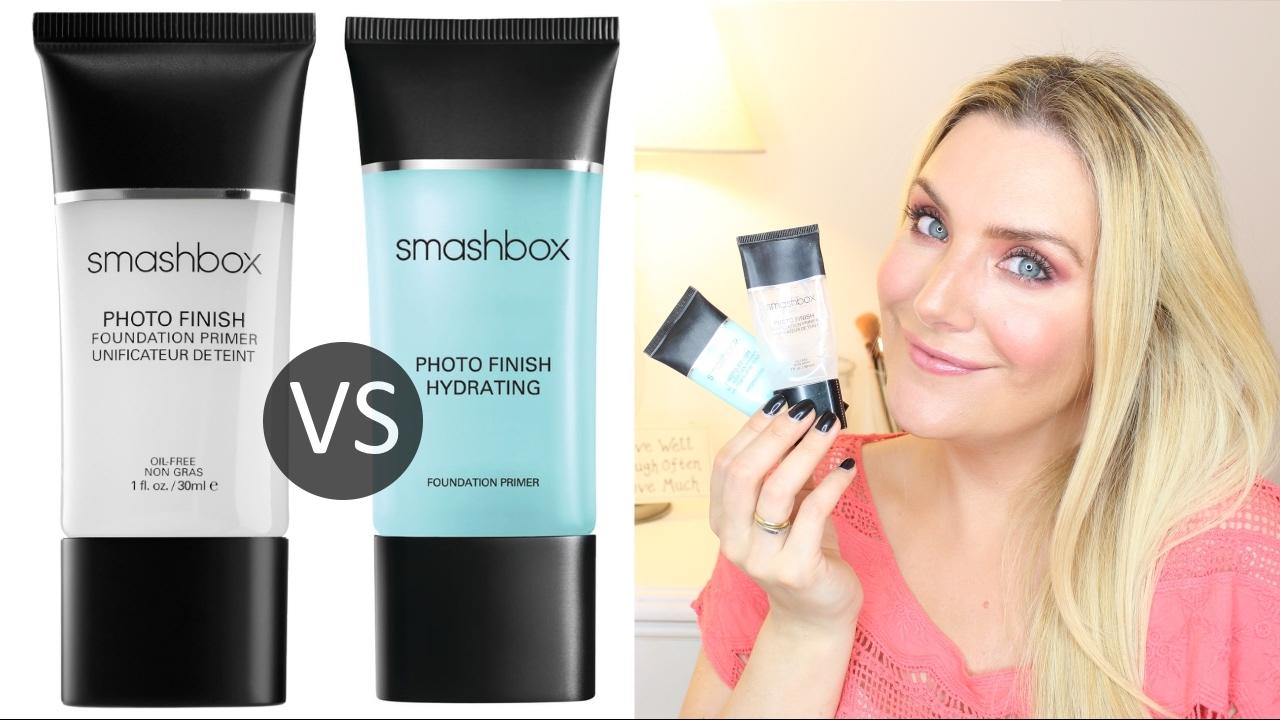 Smashbox Photo Finish Primers Iconic Vs Hydrating Comparison