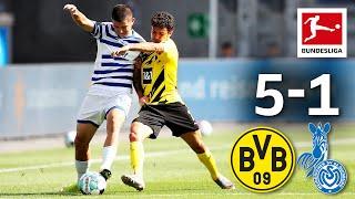 Borussia Dortmund - MSV Duisburg 5-1 I Highlights I Sancho & Reyna Goals