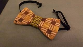 Making a Wooden Bow Tie with a Plaid Wood Pattern