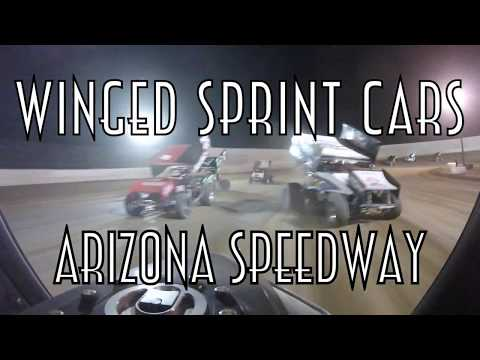 1MS Winged Sprint Cars Central Arizona Raceway dirt track