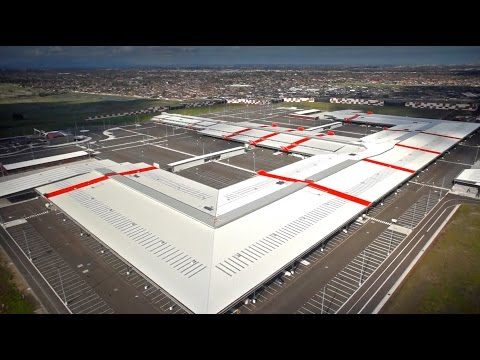Aerial Film of the Melbourne Markets site at Epping, Victoria.