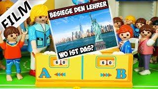 Playmobil Film Deutsch BESIEGE DEN LEHRER: WO IST DAS? JULIAN VS. SCHULDIREKTOR! Familie Vogel