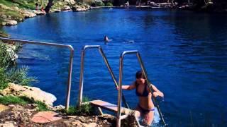 Israel 2012 Fresh water swimming hole 2.AVI