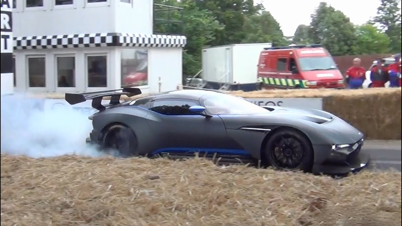 aston martin vulcan sound - crazy burnout and revs! - youtube