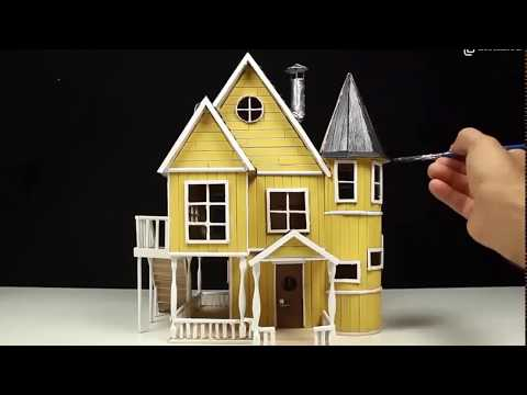 Дом из палочек от мороженого своими руками