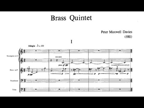 Peter Maxwell Davies - Brass Quintet, I. Adagio [score]