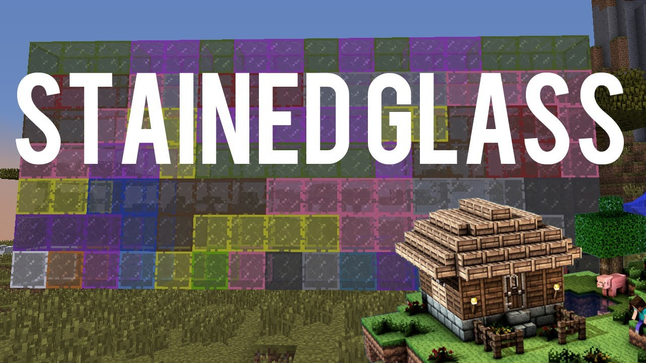 how do u make glass panes in minecraft