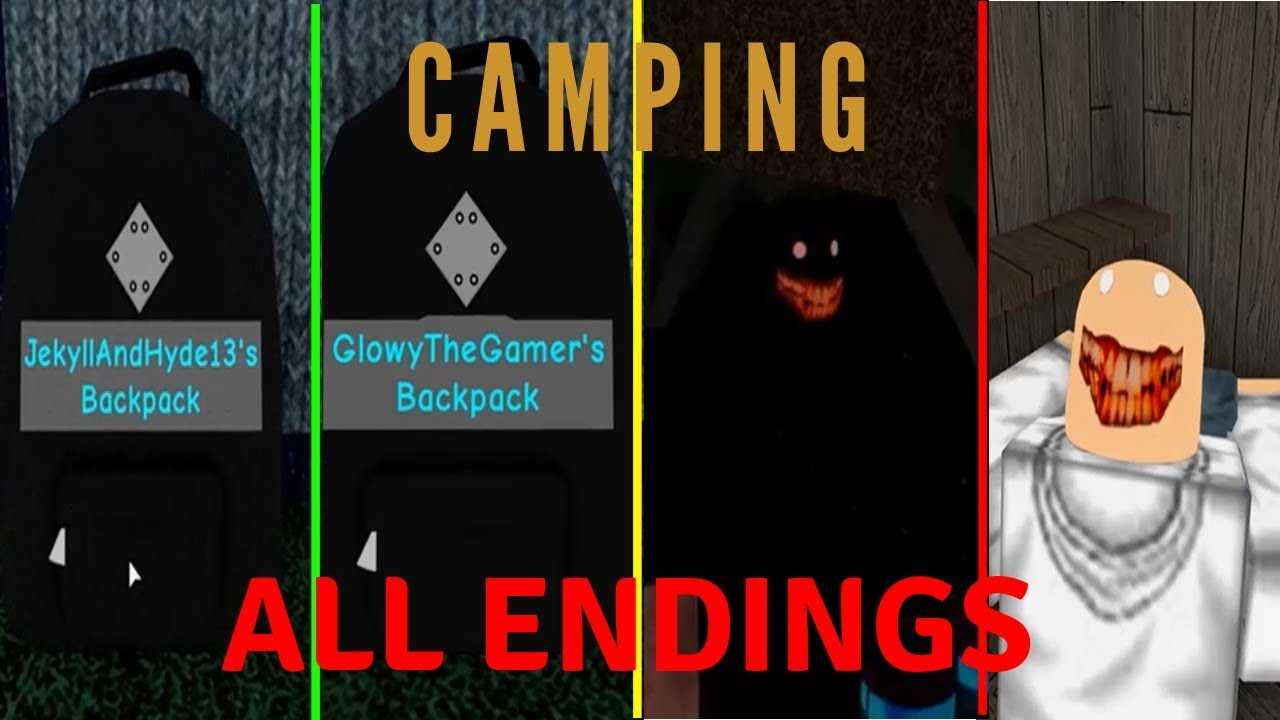 Roblox Camping All Endings Youtube