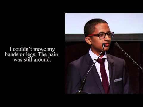 Poetry In Voice 2013 champion Khalil Mair recites at Griffin Poetry Prize awards ceremony