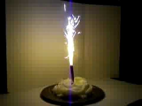 How To Light Birthday Cake Sparklers