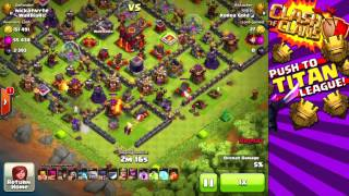 Clash of Clans Winning a DEFENSE in Titan League Impossible Titan Episode #14 Nickatnyte