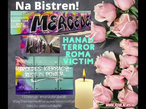 Graffiti im Gedenken an das Hanau Terror Opfer Mercedes Kierpacz (Romni)