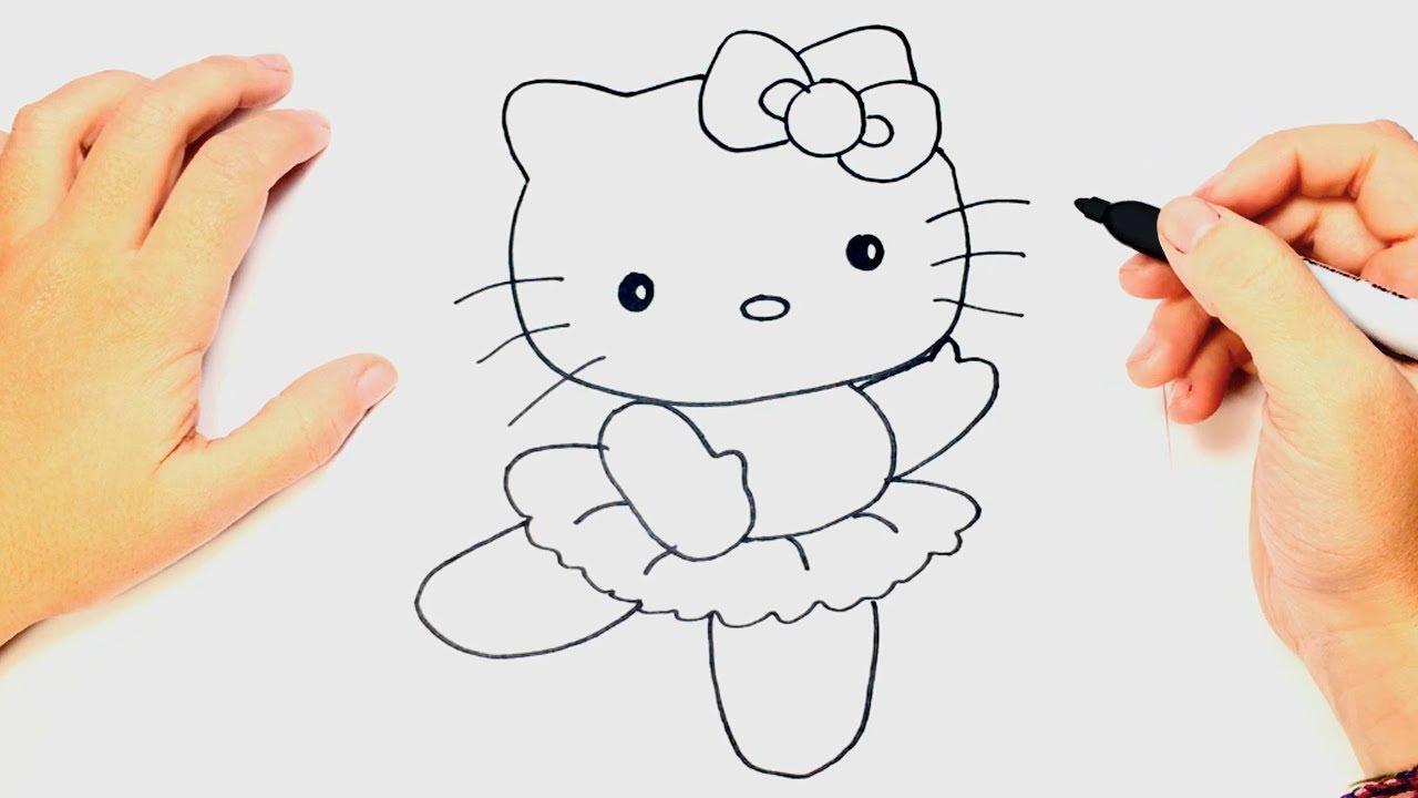 Como Dibujar A Hello Kitty Bailando Dibujo Facil De Hello Kitty