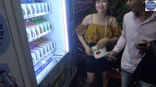Bến Ninh Kiều về đêm cùng với cơm cháy kho quẹt/Vietnamese food