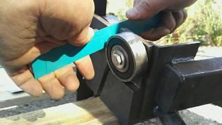 видео Роликовый нож для металла