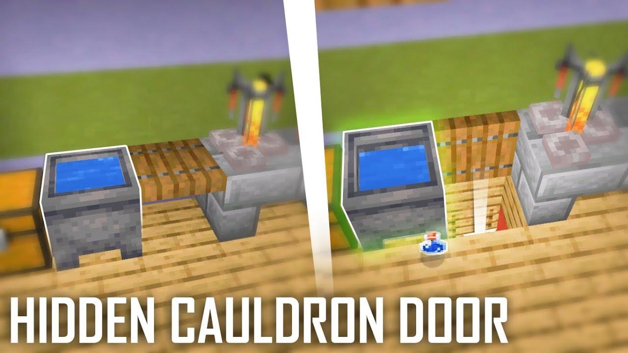 Cara Membuat Hidden Cauldron Door Miencraft Indonesia Youtube Indonesia