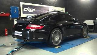 Reprogrammation Moteur Porsche 997 carrera 4S @ 380cv dyno Digiservices