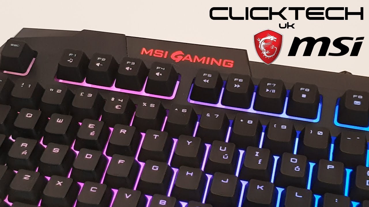 a3d7d4e4307 MSi Vigor GK40 Mechanical Feel Gaming Keyboard Review. ClickTech UK