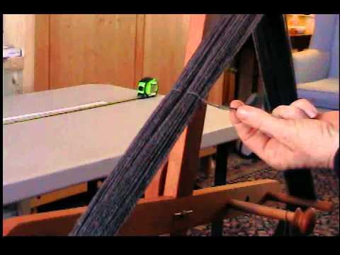 Tying a Skein, Determining Yardage of Handspun Yarn and Measuring Wraps per Inch