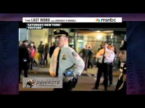 U.S  Marine confronts police at OWS