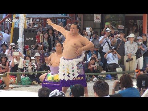 稀勢、鹿島神宮で土俵入り 県内初披露に大歓声