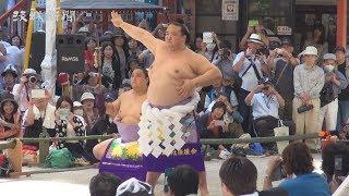 牛久市出身で大相撲の第72代横綱稀勢の里関(田子ノ浦部屋)が4日、鹿...