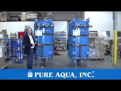 Groundwater Multimedia filters followed by a UV system 2 x 75 GPM - Qatar | www.PureAqua.com