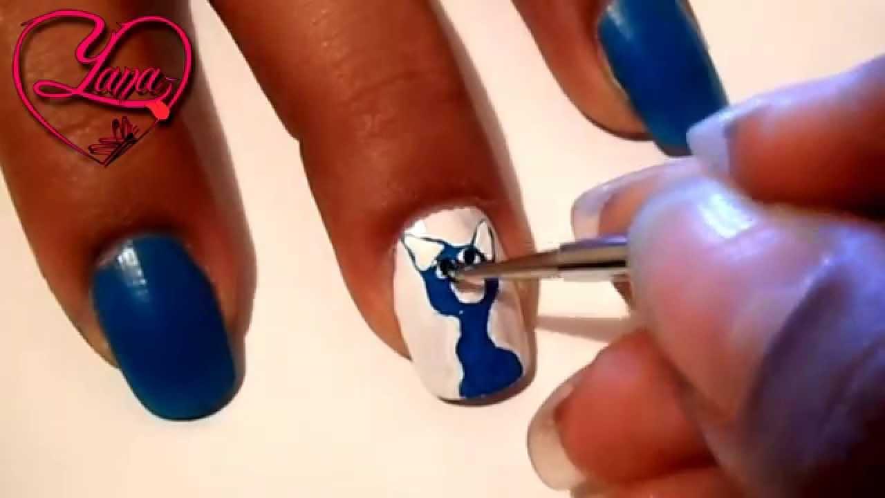 21 decorado de u as mi gato azul fantastic yana youtube - Decorados de unas ...