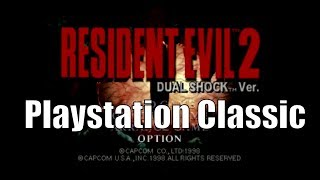 Resident Evil 2 on Playstation Classic