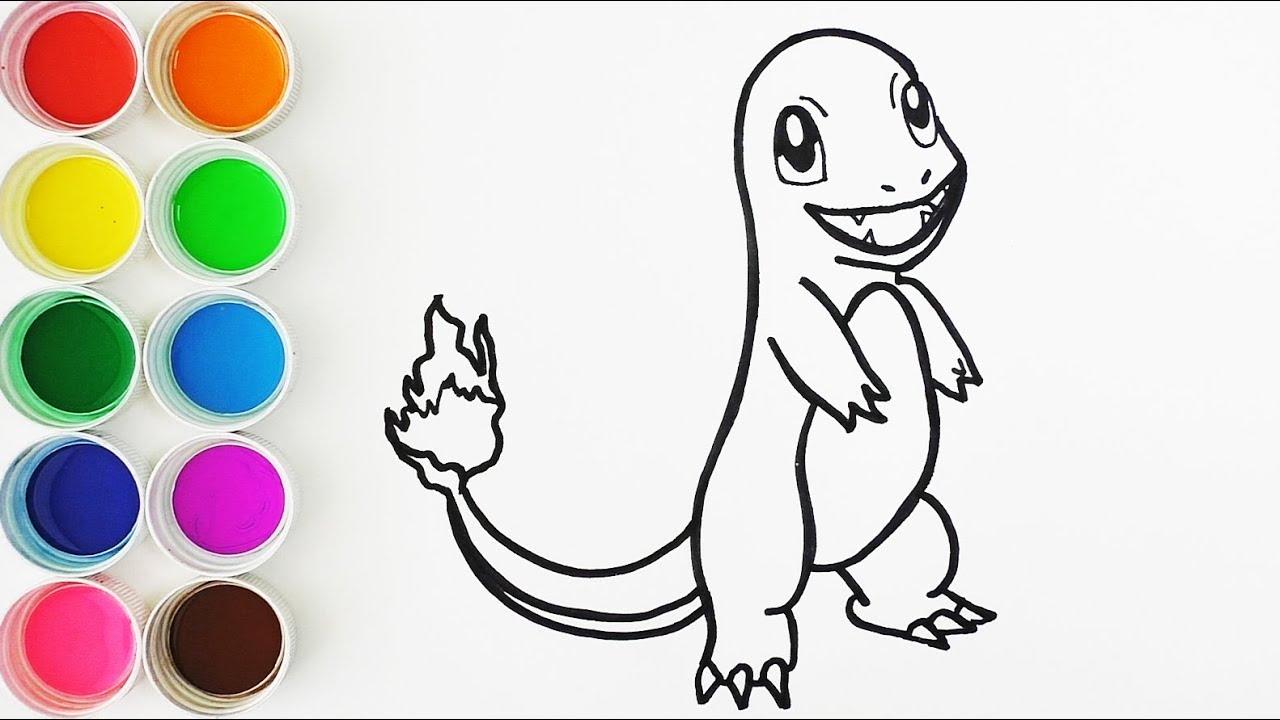 Dibujos Para Colorear De Charmander: Cómo Dibujar Y Colorear A Charmander De Pokemon