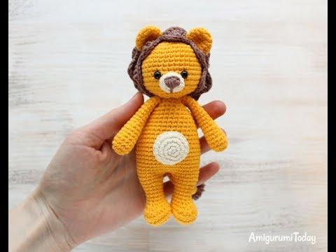 How to crochet a lion amigurumi part 1/4: Head - Hướng dẫn móc sư tử theo  chart của Amigurumi Today