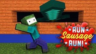 Monster School : RUN SAUSAGE RUN CHALLENGE - Minecraft Animation