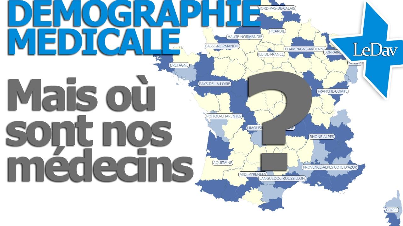 carte interactive des déserts médicaux CARTE interactive des MEDECINS en France ! Pénurie et déserts