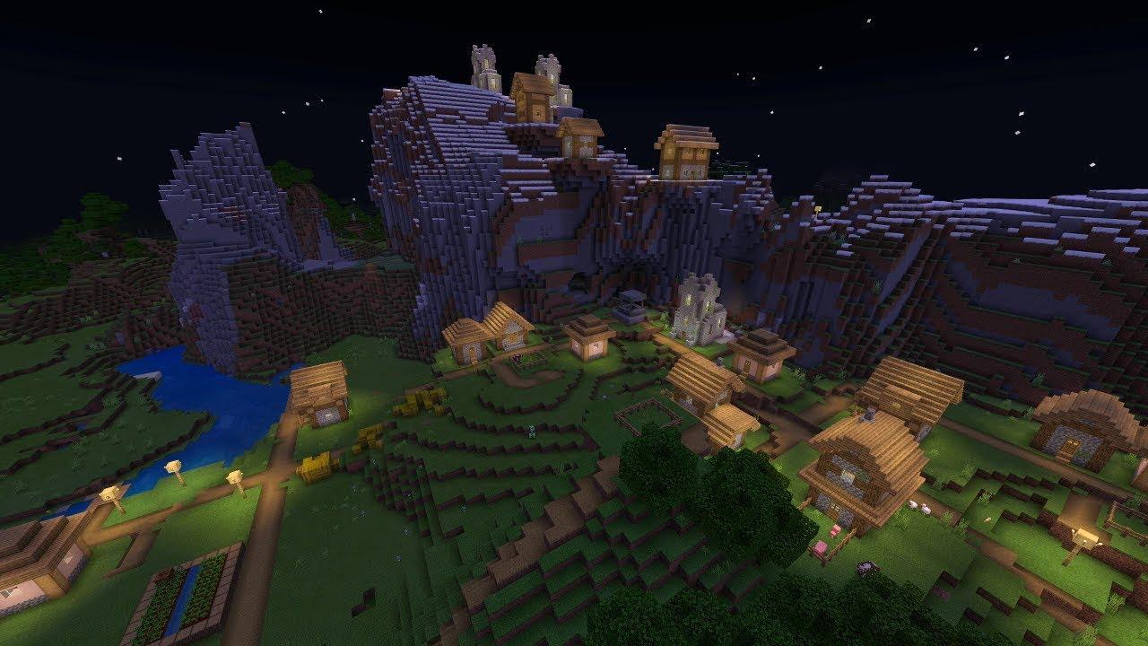 Minecraft: EPIC MOUNTAIN VILLAGE SEED! (Pocket Edition, Xbox One, Switch,  W11)