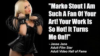 "😈ADULT FILMS:  Jesse Jane Turned On by Marko Stout! ""His Work is Really So Hot!!"""