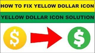 Yellow dollar icon
