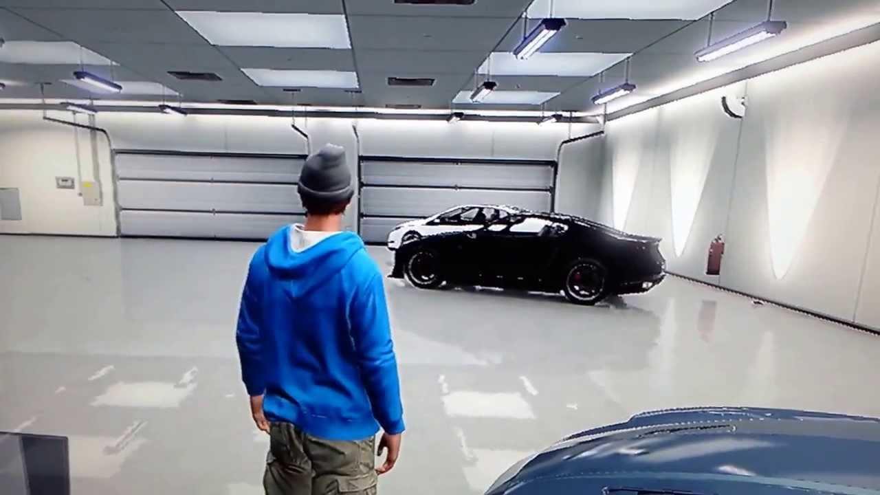 Gta 5 online biggest garage youtube for How big is a one car garage