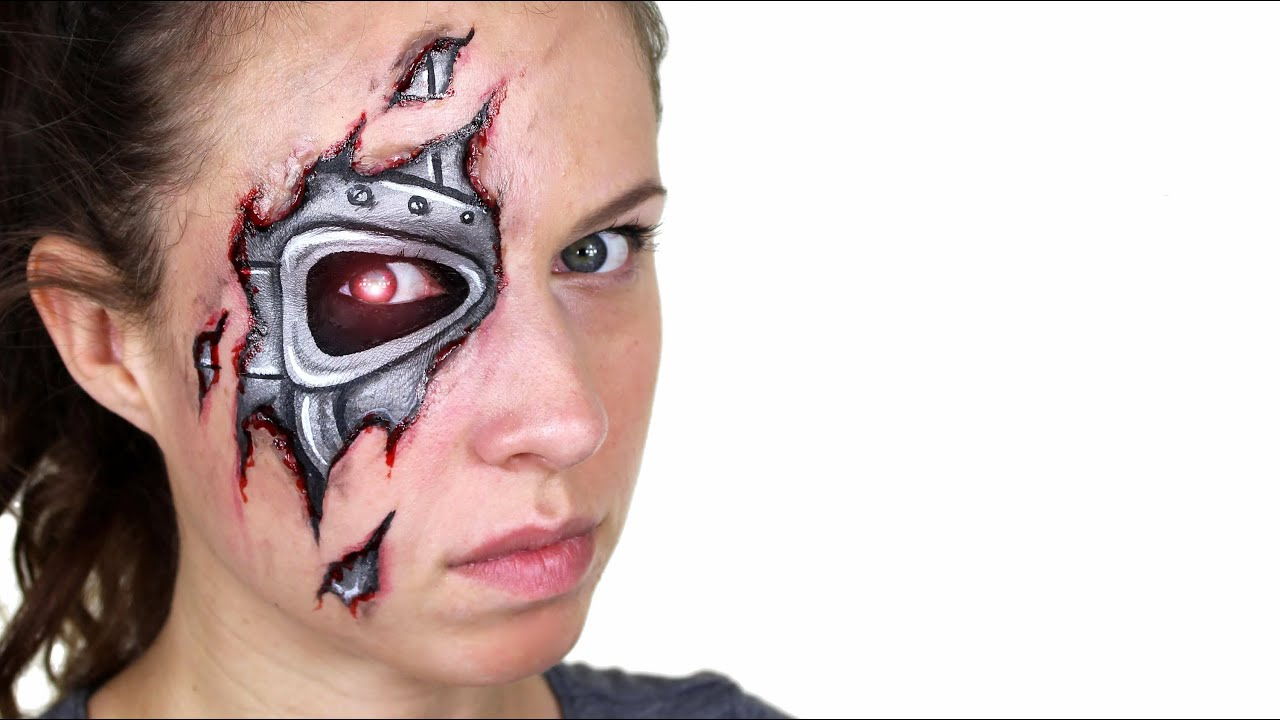 robot terminator makeup tutorial youtube