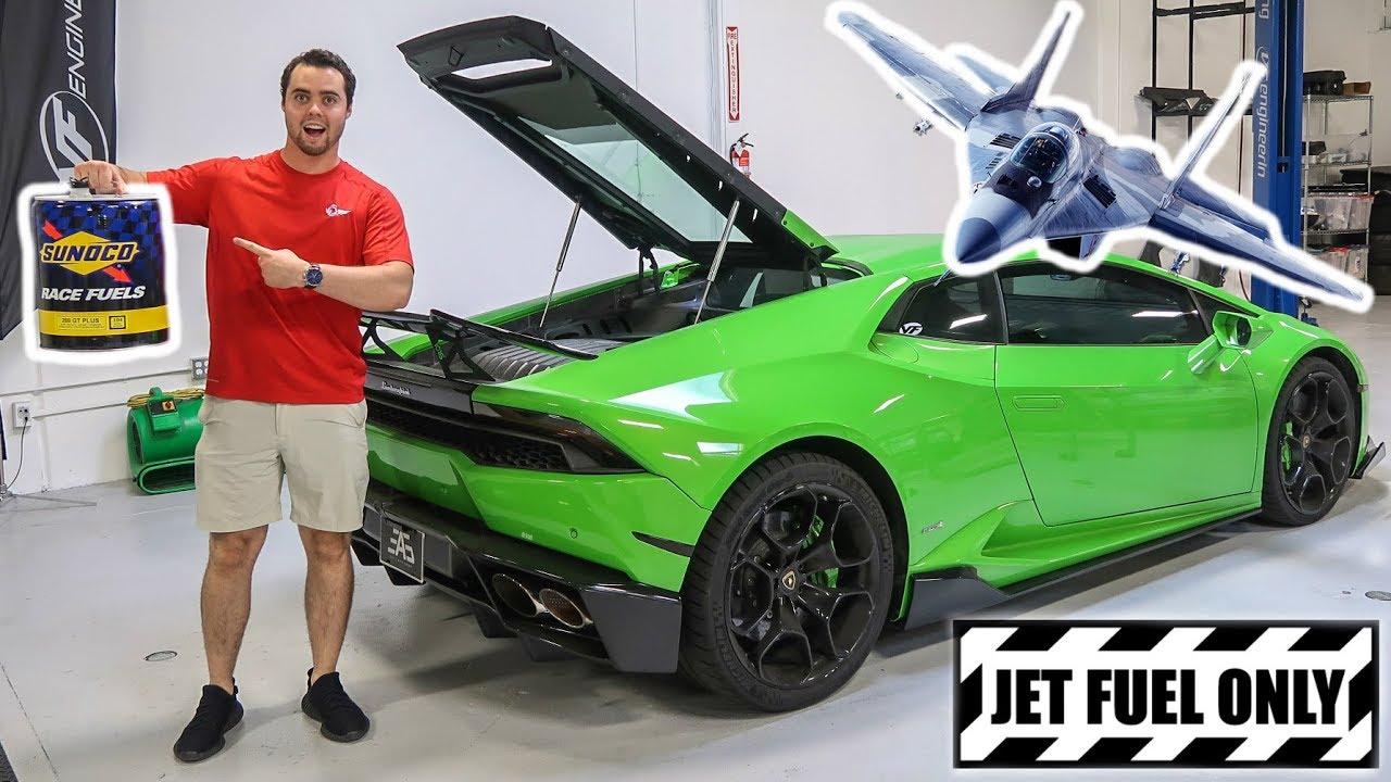 Putting Jet Fuel In My Lamborghini Youtube