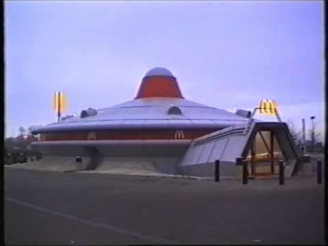 Flying Saucer McDonalds At Alconbury On The Old A604 Near Huntingdon. 1993