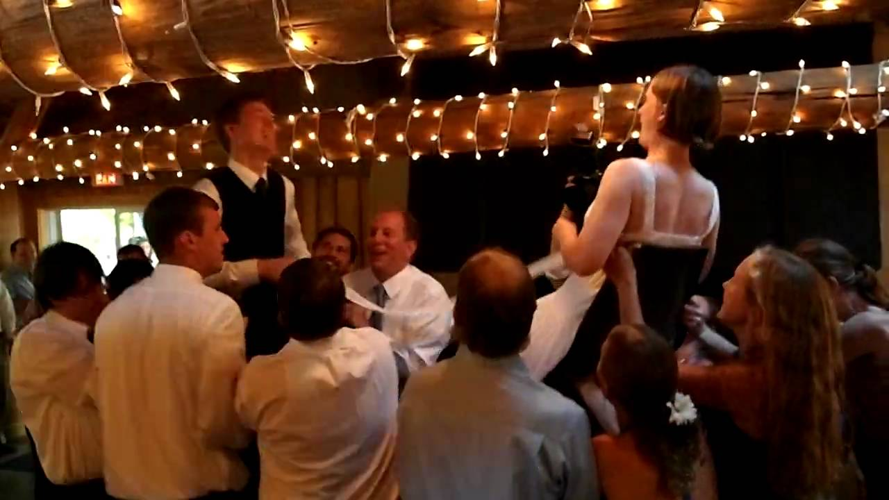 Dan and Kristinu0027s Wedding Hora - Chair Dance & Dan and Kristinu0027s Wedding Hora - Chair Dance - YouTube